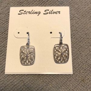 Sterling Silver Filagree Drop Earring